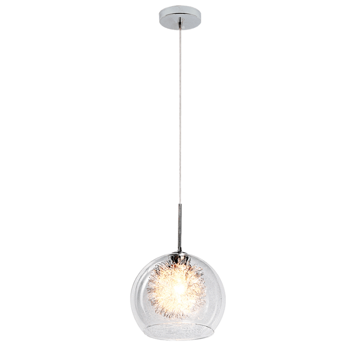 BRIGHT STAR - ALUMINIUM CLEAR GLASS PENDANT