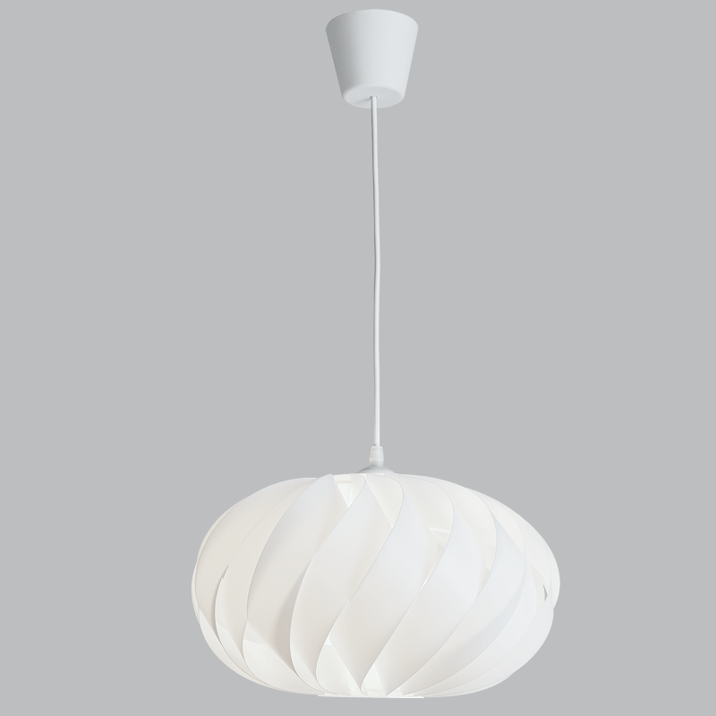 BRIGHT STAR - WHITE PLASTIC/PP PENDANT 11W (PEN805 WHITE)