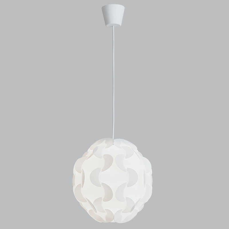 BRIGHT STAR - WHITE PLASTIC/PP PENDANT 11W (PEN807 WHITE)