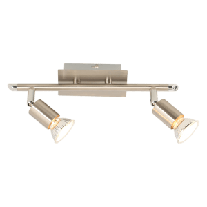 BRIGHT STAR - SATIN CHROME 2 LIGHT SPOTLIGHT 2X50W (S058/2 SATIN)