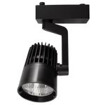 BRIGHT STAR - BLACK PLASTIC ALUMINIUM TRACKLIGHT 20W 4000K (S112/20 BLACK)