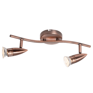 BRIGHT STAR - SATIN/COPPER 2 LIGHT SPOTLIGHT 2X50W (S123/2 )