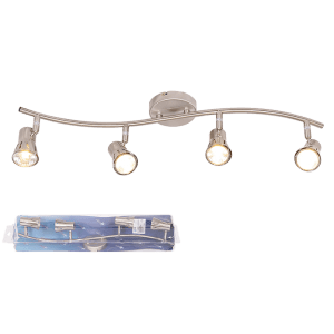 BRIGHT STAR - SATIN CHROME 4 LIGHT SPOTLIGHT 4X50W (S152/4 SATIN)