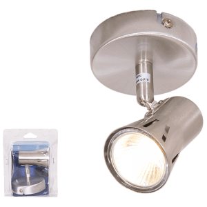 BRIGHT STAR - SATIN CHROME SINGLE SPOTLIGHT 50W (S152/1 SATIN CHROME)