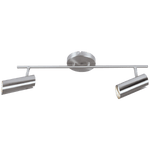BRIGHT STAR - SATIN CHROME 2 LIGHT SPOTLIGHT 2X50W (S163/2 SATIN)