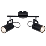 BRIGHT STAR - BLACK CHROME 2 LIGHT SPOTLIGHT 2X50W (S400/2 BLACK)