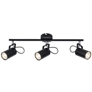 BRIGHT STAR - BLACK CHROME 3 LIGHT SPOTLIGHT 3X50W (S400/3 BLACK)