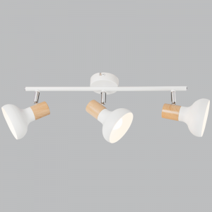 BRIGHT STAR - WHITE WOOD FINISH TRIPLE SPOTLIGHT