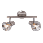 BRIGHT STAR - CHROME SMOKE GLASS TWIN SPOTLIGHT
