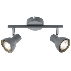 BRIGHT STAR - GREY CHROME TWIN SPOTLIGHT