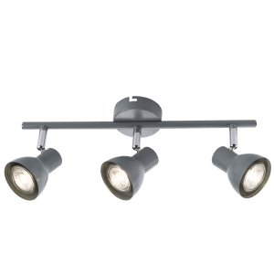 BRIGHT STAR - GREY CHROME TRIPLE SPOTLIGHT