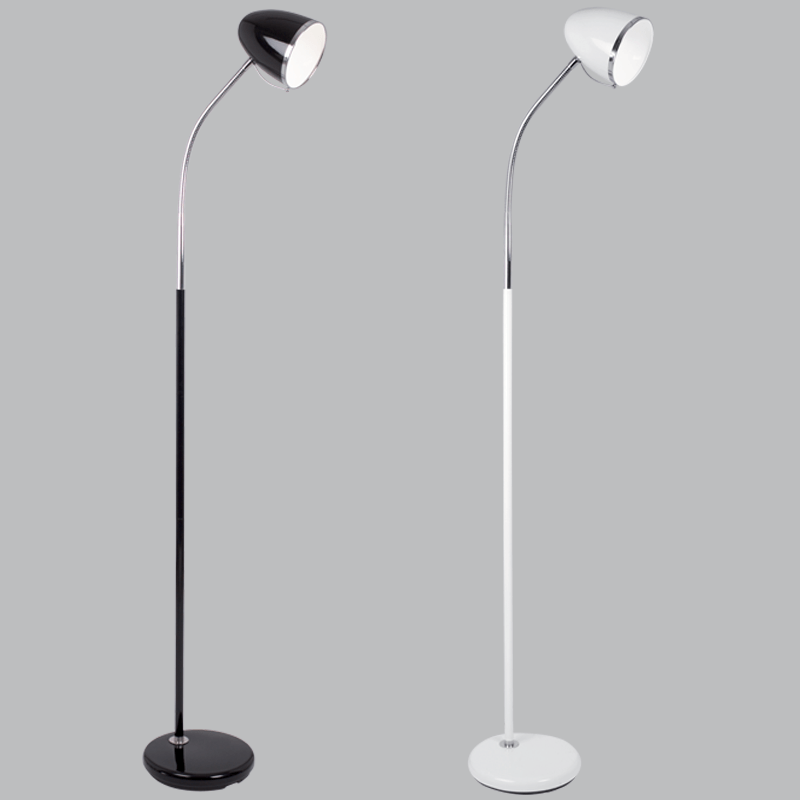 BRIGHT STAR - BLACK/WHITE FLOOR LAMP 40W (SL008)