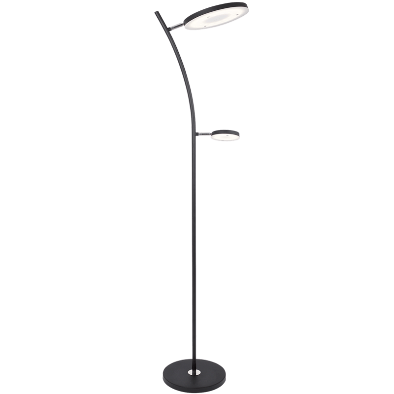 BRIGHT STAR - BLACK MOTHER SON FLOOR LAMP 21W+7W 4000K (SL015 BLACK)