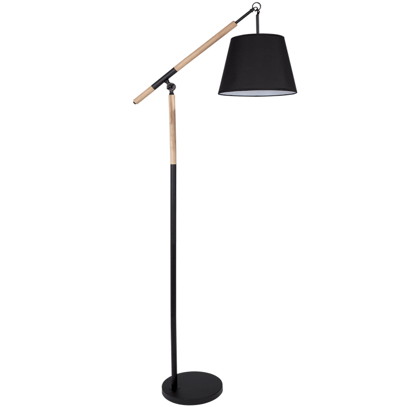 BRIGHT STAR - BLACK METAL WOOD STANDING LAMP 11W (SL018 BLACK)