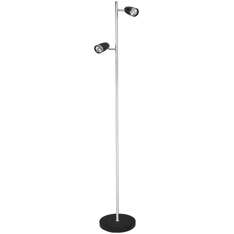 BRIGHT STAR - BLACK CHROME STANDING LAMP 2X50W (SL019 BLACK)