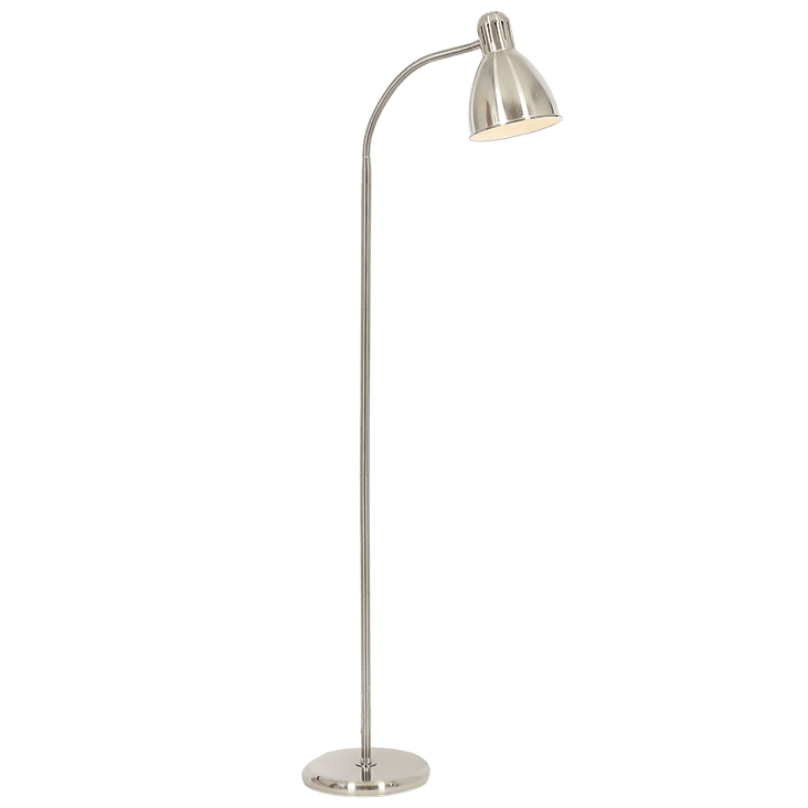 BRIGHT STAR - SATIN CHROME FLOOR LAMP