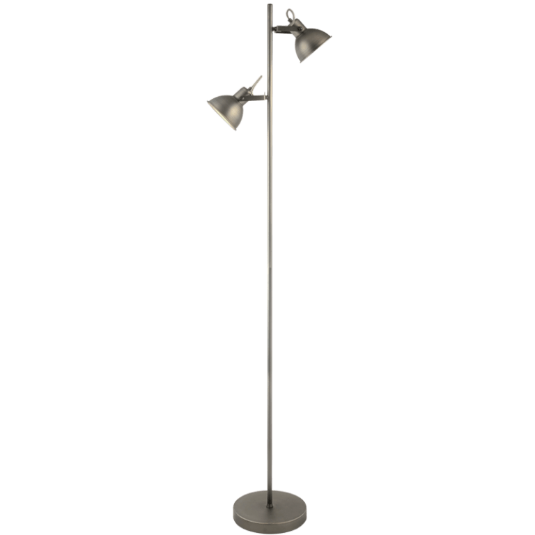 BRIGHT STAR - ANTIQUE SILVER FLOOR LAMP