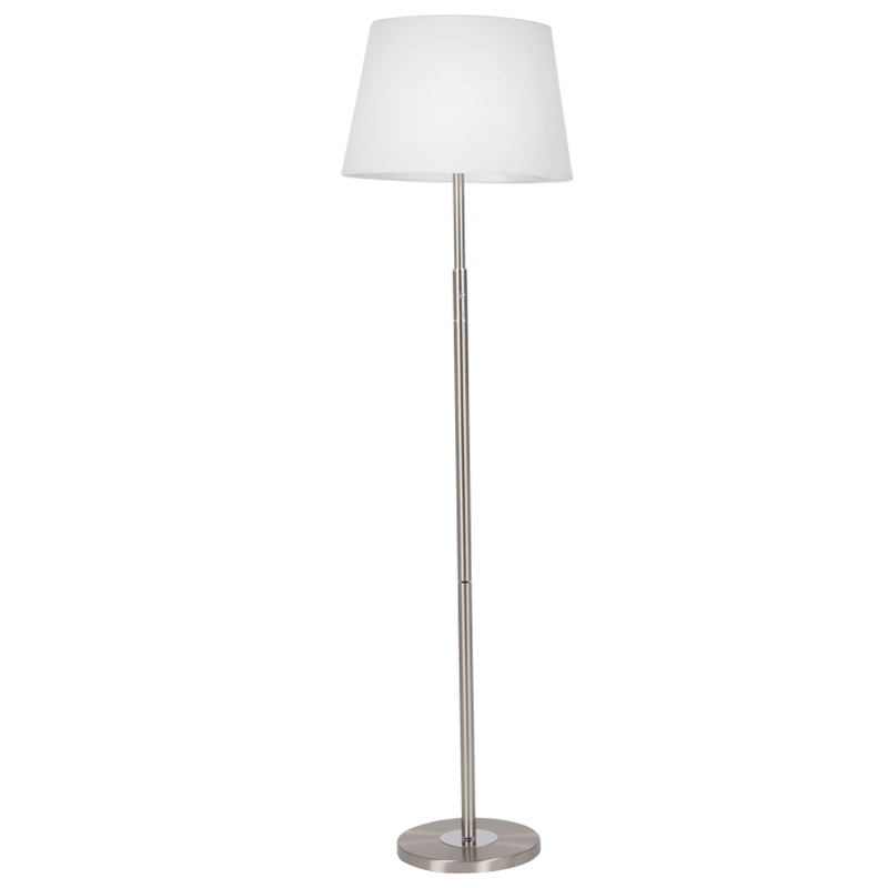BRIGHT STAR - SATIN NICKEL CHROME FLOOR LAMP
