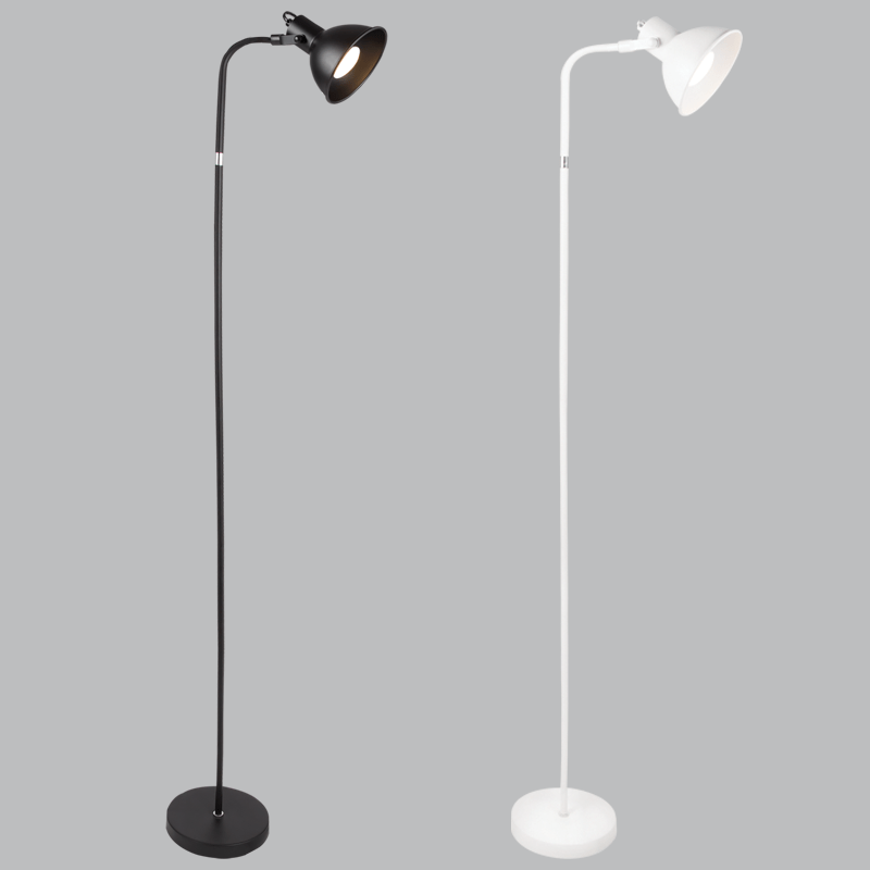 BRIGHT STAR - BLACK/WHITE FLOOR LAMP ROTATABLE HEAD 9W (SL085)