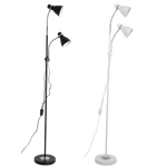 BRIGHT STAR - BLACK/WHITE FLOOR LAMP GOOSENECK ARMS