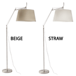 BRIGHT STAR - BEIGE/CREAM SHADE CHROME STANDING LAMP
