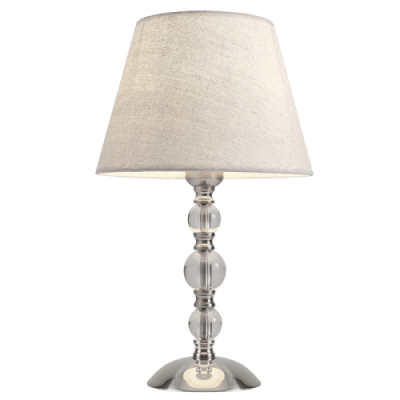 BRIGHT STAR - SATIN CHROME CRYSTAL TABLE LAMP