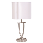 BRIGHT STAR - PEARL WHITE CHROME TABLE LAMP