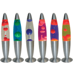 BRIGHT STAR - LAVA LAMP SILVER BASE MULTI COLOURS AVAILABLE