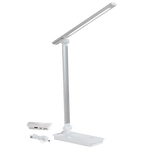 BRIGHT STAR - SILVER ALUMINIUM DESK LAMP USB
