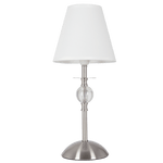 BRIGHT STAR - SATIN CHROME TABLE LAMP 11W (TL187 SATIN CHROME)