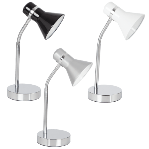 BRIGHT STAR - BLACK/SILVER/WHITE DESK LAMP