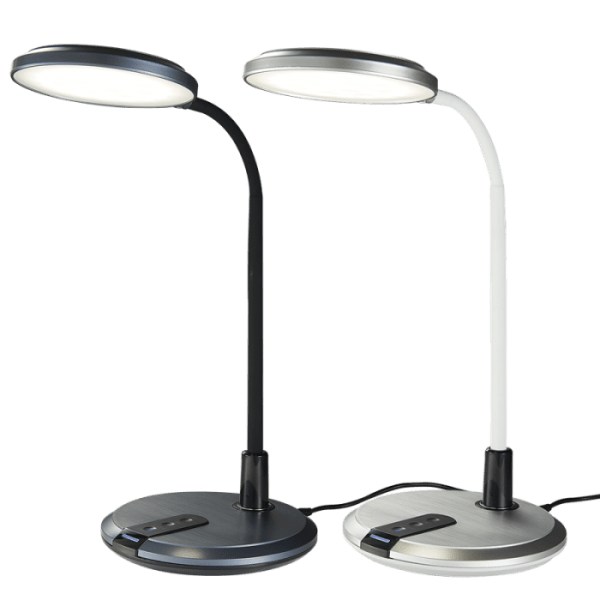 BRIGHT STAR - BLACK/SILVER ABS DESK LAMP