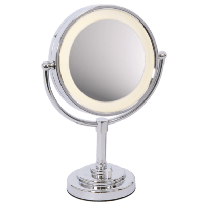 BRIGHT STAR - CHROME MIRROR TABLE LAMP BATTERY POWERED