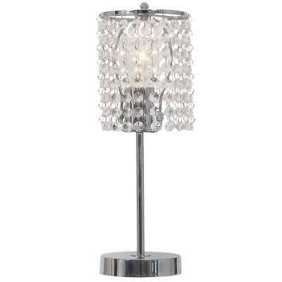 BRIGHT STAR - CHROME TABLE LAMP ACRYLIC CRYSTALS