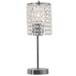 BRIGHT STAR - CHROME TABLE LAMP ACRYLIC CRYSTALS 60W (TL812 CHROME)