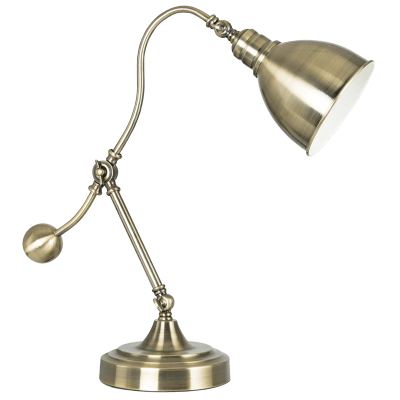 BRIGHT STAR - ANTIQUE BRASS TABLE LAMP