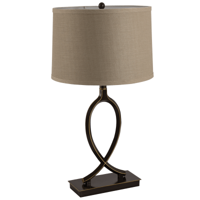 BRIGHT STAR - BLACK/GOLD ALUMINIUM TABLE LAMP