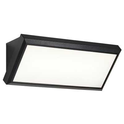 BRIGHT STAR - BLACK PC WALL FITTING LIGHT 12W 4200K (WB098 BLACK)