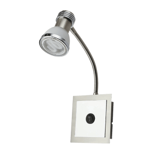 BRIGHT STAR - SATIN CHROME FROSTED GLASS WALL FITTING (WB2024/1 SATIN CHROME)
