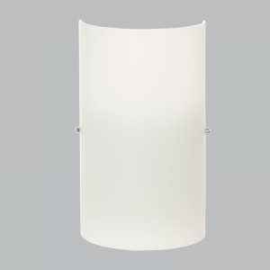 BRIGHT STAR - WHITE GLASS WALL FITTING 60W (WB271 WHITE)