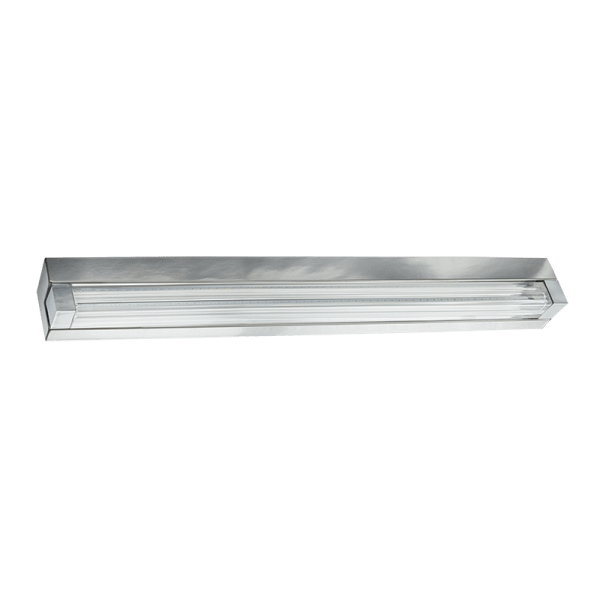 BRIGHT STAR - CHROME GLASS WALL FITTING 12W 4000K (WB344 LED)