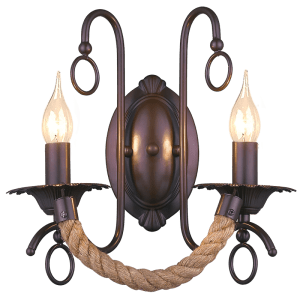 BRIGHT STAR - BROWN WALL BRACKET ROPE WALL FITTING