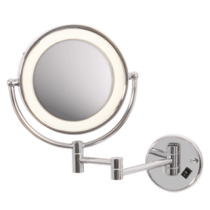 BRIGHT STAR - CHROME MIRROR WALL LIGHT FITTING