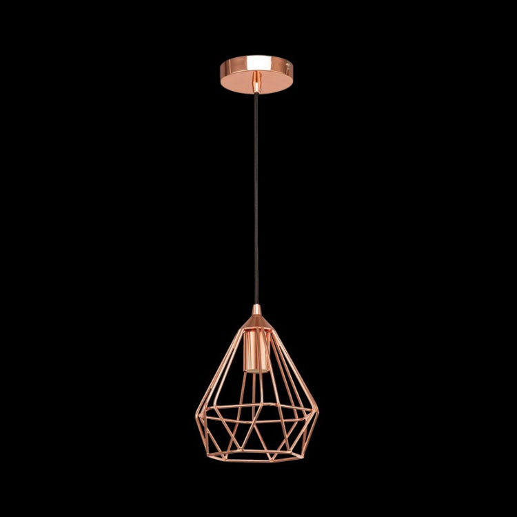 K. LIGHT - BLACK/CHROME/COPPER SMALL PRISM PENDANT 60W (G-KLCH81015S)