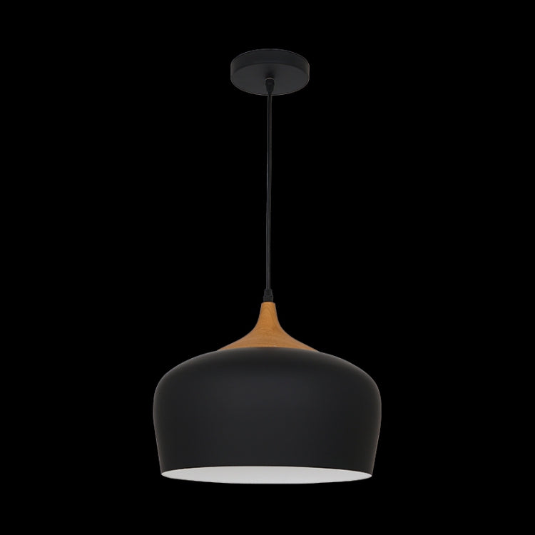 Load image into Gallery viewer, K. LIGHT - BLACK/WHITE LARGE ACORN METAL PENDANT 60W (H-KLCH-8130L/BL, H-KLCH-8130L/WH)