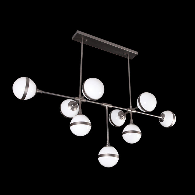 Load image into Gallery viewer, K. LIGHT - GUN METAL 9 LIGHT XLARGE ART DECO PENDANT 9X40W (DL-KLCH-9252L/9)