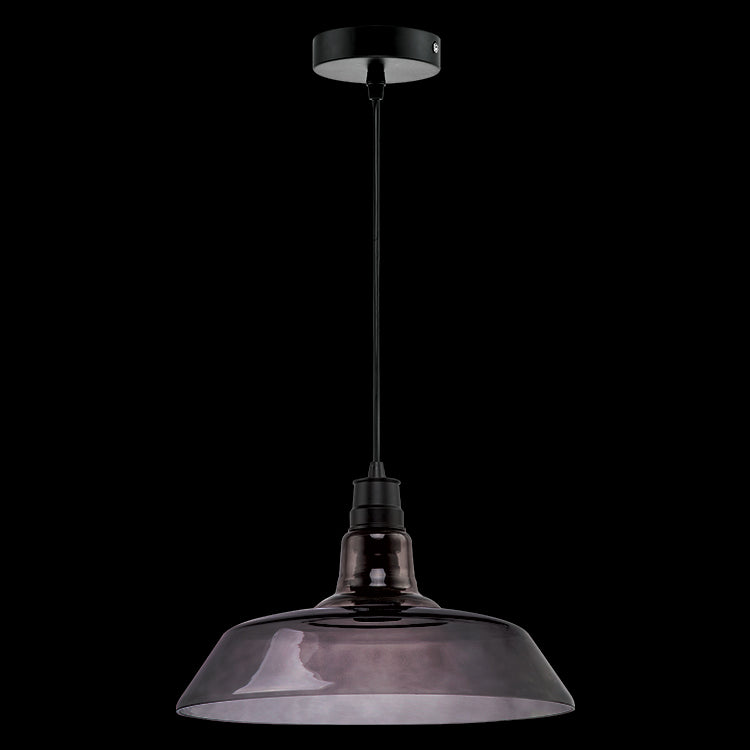Load image into Gallery viewer, K. LIGHT - AMBER/CLEAR/SMOKE HAT GLASS PENDANT 60W (CA-KLCH-3130)