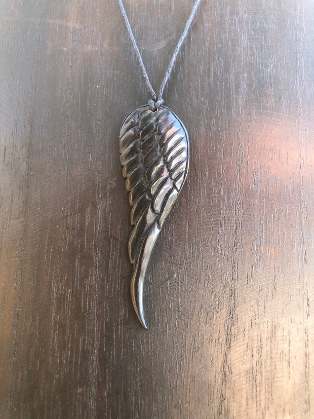 Pegasus Wing Necklace - Horn