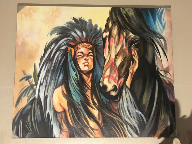 Native American Princess and Her Stallion