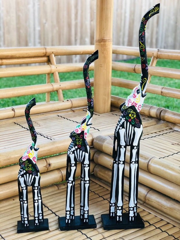 Day of the Dead Tall Elephant Set (3 Pcs)